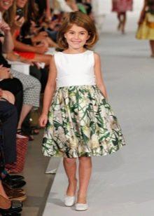 Платье с принтом для девочки 11 лет