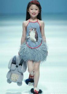 Летнее короткое платье для девочек
