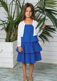 Летнее нарядное многоярусное  платье для девочек