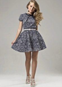 Летнее короткое пышное платье для девочек 12-14 лет