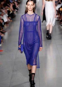Модное прозрачное платье 2016 года