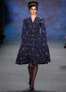 Модное вискозное платье сезона осень-зима 2016 года