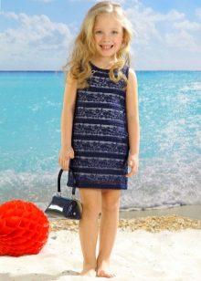 Нарядное летнее платье для девочки прямое