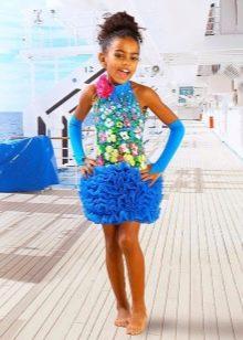 Нарядное летнее платье для девочки с американской проймой