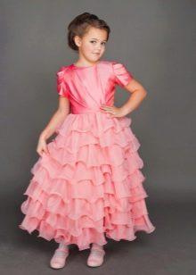 Нарядное выпускное платье для девочки пышное
