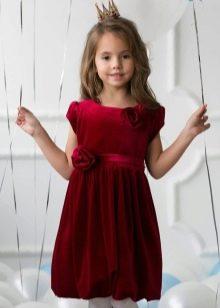 Нарядное вечернее платье для девочки бархатное