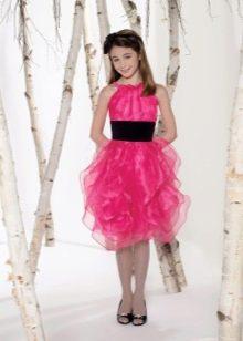 Нарядное вечернее платье для девочки с объемной юбкой