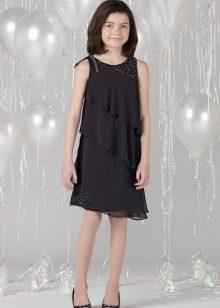 Нарядное вечернее платье для девочки многоярусное