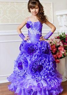 Нарядное платье для девочки 6-7 лет пышное в пол