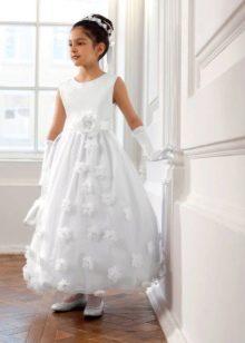 Нарядное платье для девочки длинное
