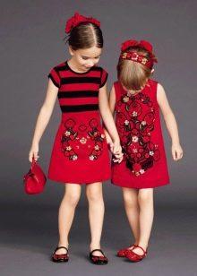 Нарядное платье для девочки с принтом