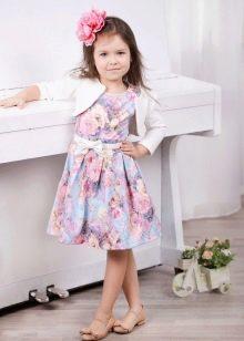 Нарядное платье для девочки с цветочным принтом