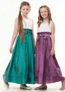 Нарядное платье для девочки в пол
