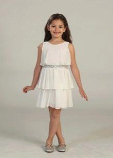 Нарядное платье для полной девочки короткое