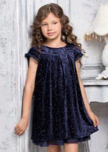 Нарядное платье трапеция для полной девочки