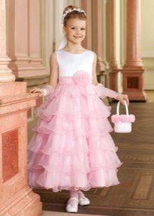 Нарядное платье для девочки в пол А-силуэта