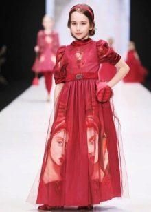 Нарядное платье для девочки длинное закрытое