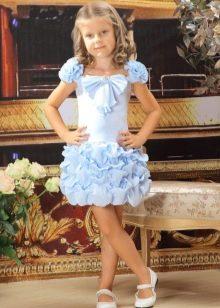 Нарядное выпускное платье для девочки с пышной юбкой