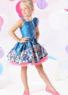 Нарядное выпускное платье для девочки а-силуэта