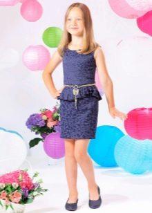 Нарядное вечернее платье для девочки с баской