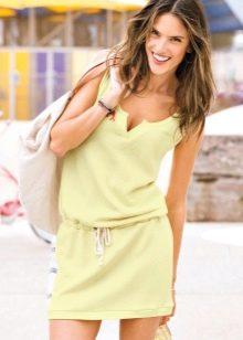 летнее  платье из футера