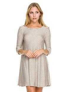 платье-тельняшка из футера
