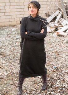 авторское платье из футера