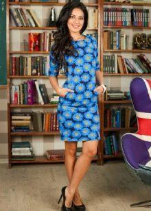 платье из футера с цветочным принтом