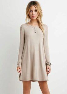 нежное платье из футера