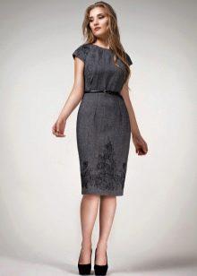 платье из твида для офиса