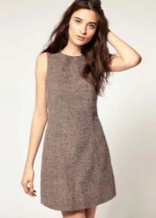 твидовое платье-шифт
