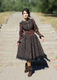 ретро-платье из твида