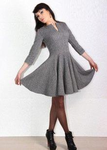 женственное платье из твида