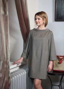 свободное платье из твида