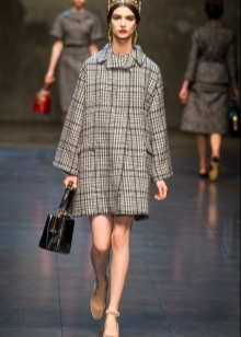 платье и пальто из твида