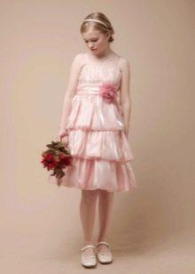 Платье многоярусное в стиле ретро для девочки 11 лет