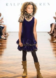 Прямое платье для девочки 11 лет
