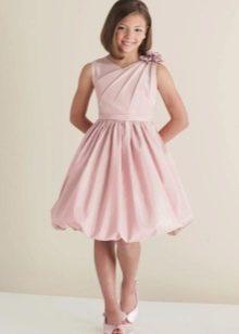 Платье пышное короткое для девочки 11-12 лет