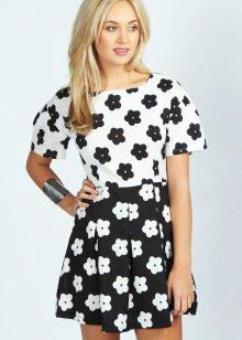платье для подростка в цветочек