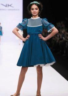 Платье для девочки 13-14 лет с рукавами
