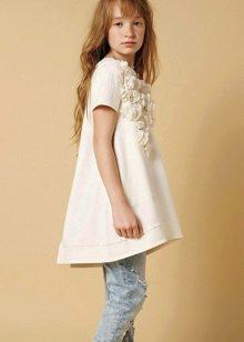 Платье для девочки 10-12 лет асимметричное