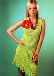 Вязаное платье для подростка крючком