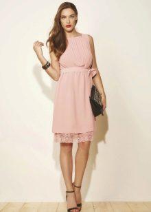Летнее платье для подростка короткое шифоновое