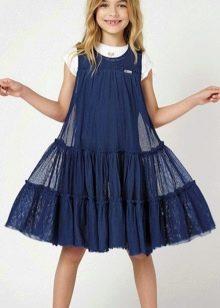 Платье для подростка синее