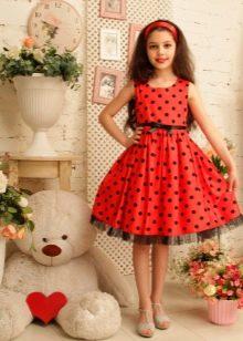 Платье для подростка красное
