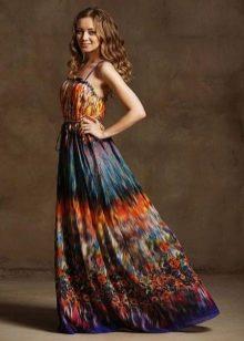 платье из батиста яркой расцветки
