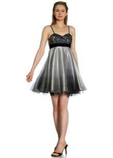 коктейльное платье из органзы с блестками