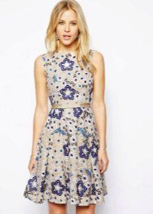 летнее платье из органзы