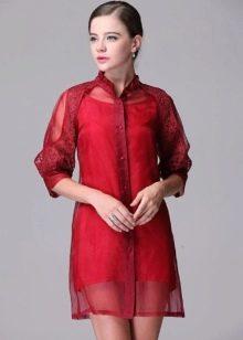 платье из органзы и шелка