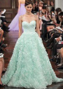 цветное свадебное платье из органзы